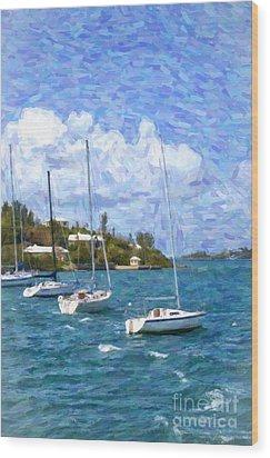 Wood Print featuring the photograph Bermuda Sailboats by Verena Matthew
