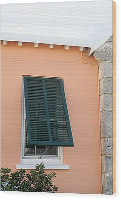 Bermuda Shutters Wood Print