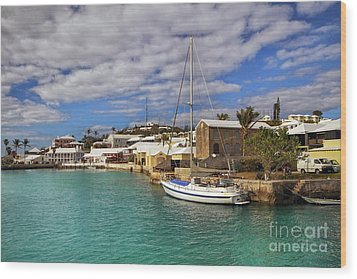 Bermuda St George Harbour Wood Print by Charline Xia