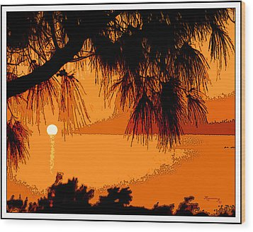 Wood Print featuring the photograph Bermuda Sunset by Mariarosa Rockefeller