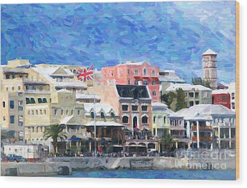 Wood Print featuring the photograph Bermuda Waterfront by Verena Matthew
