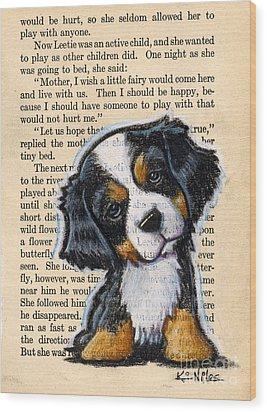 Bernese Mountain Dog Puppy Wood Print by Kim Niles