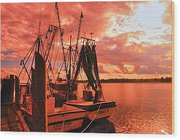 Wood Print featuring the photograph Bernice And Bubba by Dennis Baswell
