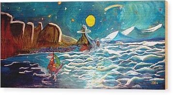 Bernie And Joe Skull Island Wood Print by Joseph Hawkins