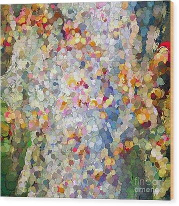 Berries Around The Tree - Abstract Art Wood Print