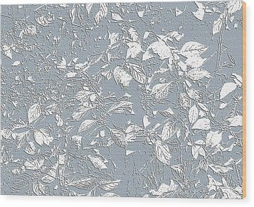 Berry Branch Blue Wood Print
