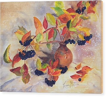Berry Harvest Still Life Wood Print