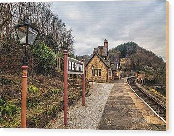 Berwyn Station Wood Print by Adrian Evans
