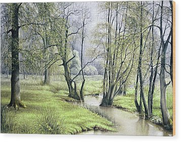 Beside Still Waters Wood Print
