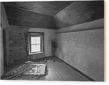 Beside The Window Wood Print by David Hollinger
