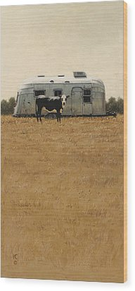 Bessie Wants To Travel Wood Print