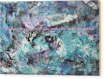 Besso Monotype Smile Wood Print by Marlene Rose Besso