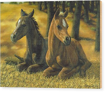Best Friends Wood Print by Crista Forest