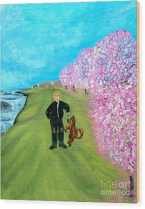 Best Friends. Painting. Promotion Wood Print by Oksana Semenchenko
