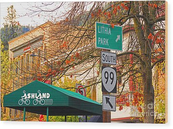 Best Little Town In Oregon Wood Print by Kris Hiemstra