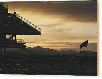 Best View Of All - Rockies Stadium Wood Print by Marilyn Hunt