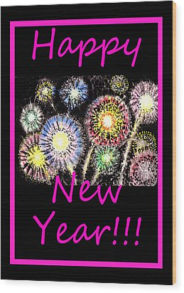 Best Wishes And Happy New Year Wood Print by Irina Sztukowski