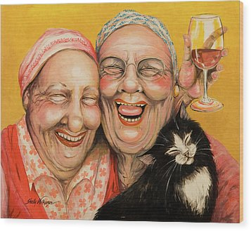 Bestest Friends Wood Print by Shelly Wilkerson