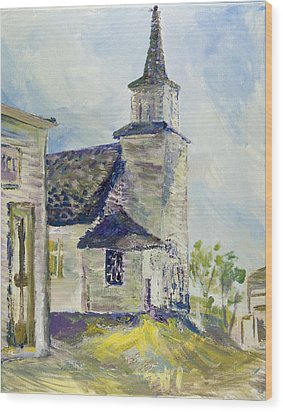 Bethel Church At Buckstop Junction Wood Print by Helen Campbell