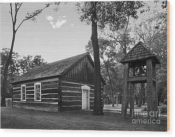 Bethel College Indiana Taylor Memorial Chapel Wood Print by University Icons