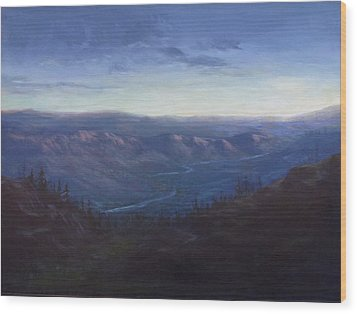 Bethel Ridge Sunrise Wood Print by Charles Smith