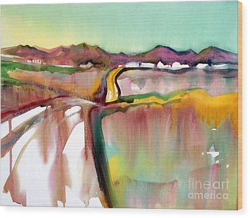 Wood Print featuring the painting Bethel Road by Teresa Ascone