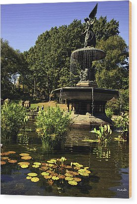 Bethesda Fountain - Central Park 2 Wood Print by Madeline Ellis