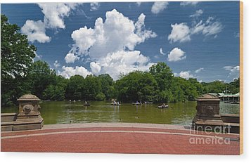 Bethesda Terrace Central Park New York Wood Print by Amy Cicconi