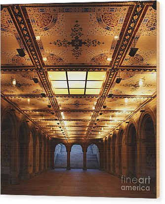 Bethesda Terrace Lower Passage Wood Print by Lee Dos Santos