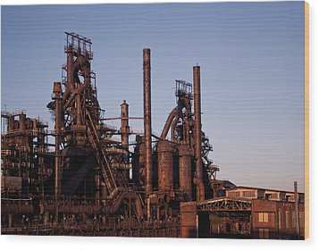 Bethlehem Steel At Sunset Wood Print
