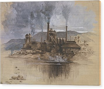 Bethlehem Steel Corporation Circa 1881 Wood Print by Aged Pixel