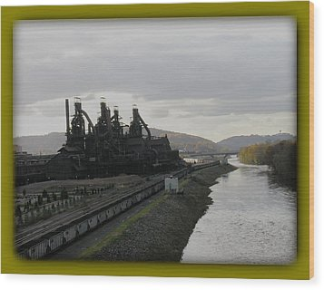 Bethlehem Steel Wood Print by Jacqueline M Lewis