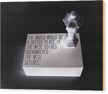 Wood Print featuring the sculpture Better Place by Tony Murray