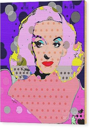 Betty Davis Wood Print by Ricky Sencion