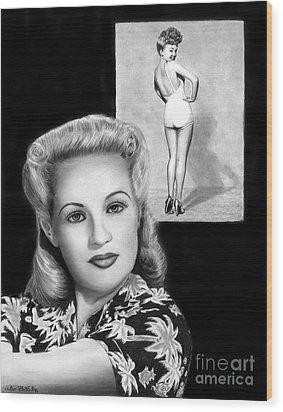 Betty Grable Wood Print by Peter Piatt