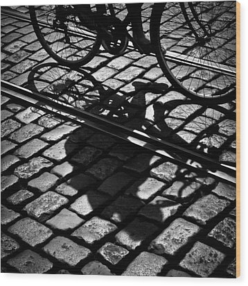 Between The Lines Wood Print by Dave Bowman