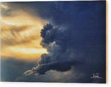 Between The Storms Wood Print by Dan Quam
