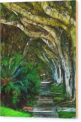 Beverly Hills Jungle Wood Print by Cary Shapiro