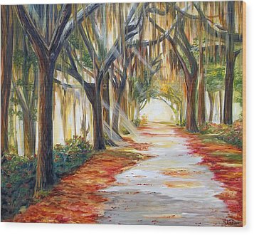Bev's Path Wood Print by Suzanne King