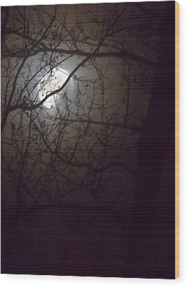 Wood Print featuring the photograph Beware The Rougarou Moon by John Glass