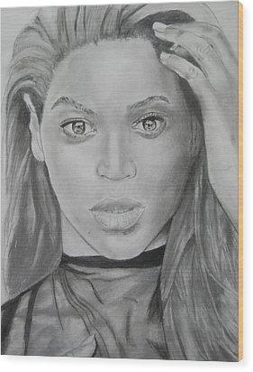 Beyonce Wood Print by Aaron Balderas