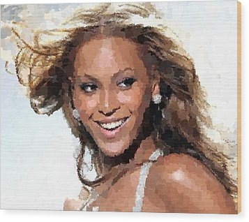 Beyonce Portrait Wood Print