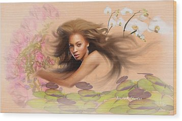 Beyonce's Dream Wood Print by Angela A Stanton