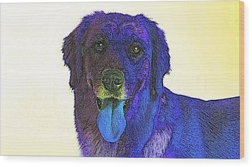 Beyond Purple Wood Print by Kathy Budd