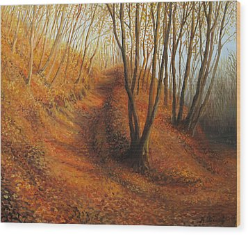 Beyond Silence Wood Print by Kiril Stanchev