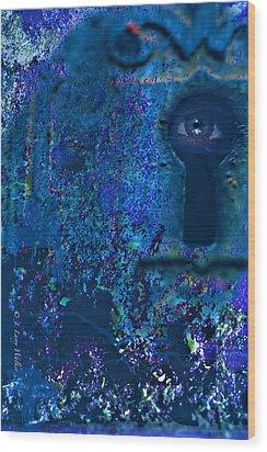 Beyond The Door - Abstract Wood Print by J Larry Walker