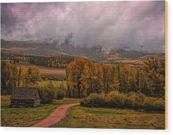 Wood Print featuring the photograph Beyond The Road by Ken Smith