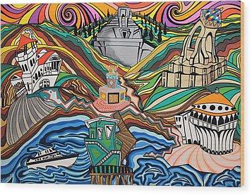 Beyond The Sea Wood Print by Carlos Martinez