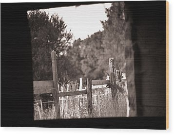 Beyond The Stable Wood Print by Loriental Photography