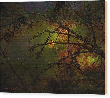 Beyond The Thorns Wood Print by J Larry Walker